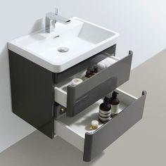 Zenit White Gloss Wall Hung Bathroom Vanity Unit inc Basin Wall Hung Bathroom Vanities, Small Bathroom Cabinets, Wall Hung Vanity, Bathroom Storage, Bathroom Trends, Bathroom Designs, Built In Wall Units, Washbasin Design, Vanity Units