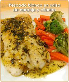 Cocina – Recetas y Consejos Fish Recipes, Seafood Recipes, Mexican Food Recipes, Great Recipes, Cooking Recipes, Healthy Recipes, Good Food, Yummy Food, Fish Dishes