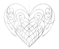 sketches of stars and hearts | Off the Map Tattoo : Original Art : Stretch : Pinsripe Heart Sketch
