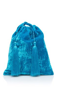 Sofia Velvet Pouch with Tassels by ATTICO Now Available on Moda Operandi