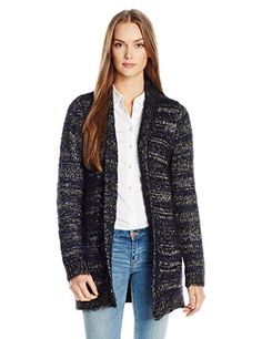Lucky Brand Women's Shine Stripe Cardigan, Natural Multi, Large ** Check it out! Amazon Affiliate Program's Ads.