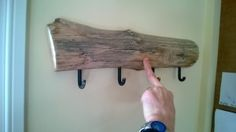 rough sawn coat racks - Google Search