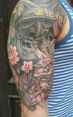 Samurai cover up tattoo