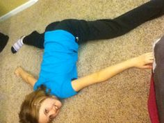 Me doing my middle splits all the way DOWN!