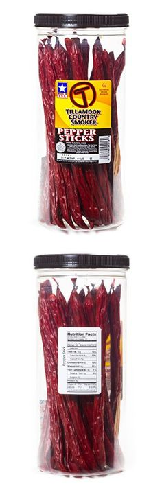 Tillamook Country Smoker - PEPPER STICK 20-Count.95 LBS-1 LBS Beef Jerky Meat Snack Camping Hiking