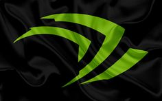 Download wallpapers Nvidia, 4k, green logo, Nvidia emblem, silk flag