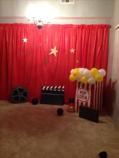 Red carpet decorations for Torriee's bday