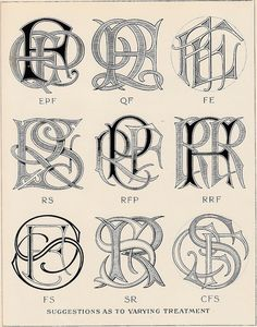 Más tamaños | Monograms & Ciphers by AA Turbayne 1912 a | Flickr: ¡Intercambio de fotos!