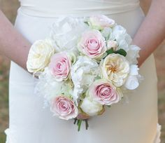 Wedding Flowers Country Wedding Ivory Peony by Hollysflowershoppe