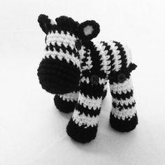 Zainer the Amigurumi Zebra by WyandotteWears on Etsy, $18.00
