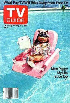 This week's TV Guide from 1981 features the Pork Diva herself, Miss Piggy. What really makes this cover is Kermit relaxing waaaay in the b. Miss Piggy, Danbo, Die Muppets, Fraggle Rock, The Muppet Show, Top Les, Kermit The Frog, Jim Henson, Vintage Tv