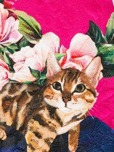 0b7c534e53 Dolce & Gabbana Kids Floral Cat Print Brocade Dress - Farfetch. Funny  PetsFunny ...