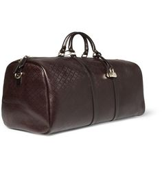 Gucci Textured-Leather Holdall | MR PORTER