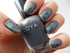 Zoya Kelly frosted with Sinful Colors Ice Dream.
