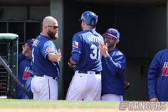 Pat on the back for a Spring Training Home Run. #RangersST