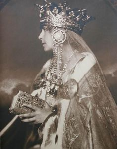Queen Marie of Romania, coronation, Queen Mary, King Queen, Adele, Romanian Royal Family, Windsor, Peles Castle, Royal Blood, Fantasy Costumes, Royal Jewels