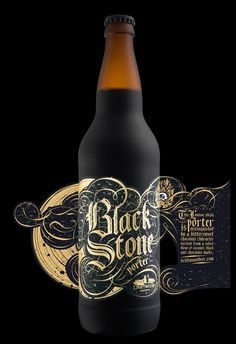 This London-style porter is distinguished by a bittersweet chocolate character derived from a select blend of caramel, black and chocolate malts.For this London-style porter, we created a typographic treatment based on Old English hand lettering, using … by Hired Guns Creative