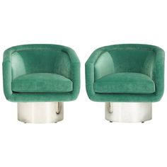 Pair of Lounge Chairs by Leon Rosen for Pace Collection | From a unique collection of antique and modern lounge chairs at https://www.1stdibs.com/furniture/seating/lounge-chairs/