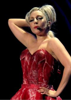Meat dress that will be worn at the Born This Way ball