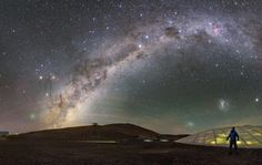Paranal sky with comet
