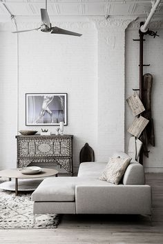 structured linen sofa, relaxed rustic finishes