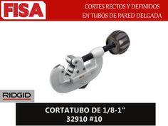 """CORTATUBO DE 1/8-1"""" 32910 #10. Cortes rectos y definidos en tubos de pared delgada- FERRETERIA INDUSTRIAL -FISA S.A.S Carrera 25 # 17 - 64 Teléfono: 201 05 55 www.fisa.com.co/ Twitter:@FISA_Colombia Facebook: Ferreteria Industrial FISA Colombia"""