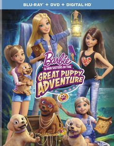 "2015 — Barbie™ & Her Sisters in ""The Great Puppy Adventure"" Blu-Ray — Barbie® Doll"