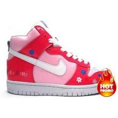 Womens Nike Dunk High Hello Kitty Colourful Flower Red Pink Nike Dunk High 1662dada97
