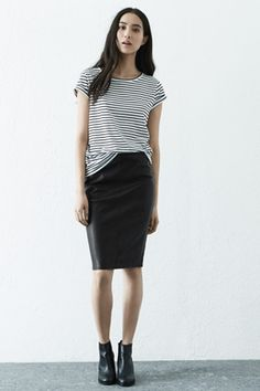 Faux leather biker skirt | Warehouse SS15 | Pinterest | Leather ...