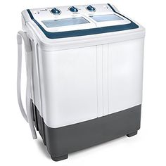 Ivation Small Compact Portable Washing Machine – Twin Tub Washer & Spin with 12.12 Lb. Wash Capacity & 7.7 Lb. Spin Capacity – Includes…