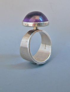 N.E. From Denmark Sterling & Amethyst Ring
