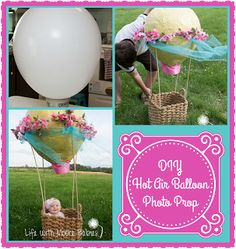 Life with Moore Babies: DIY Hot Air Balloon Baby Photo Prop