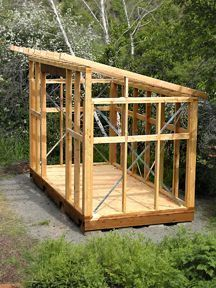 Garden shed with slant roof single slope roof shed for How long does it take to build your own house