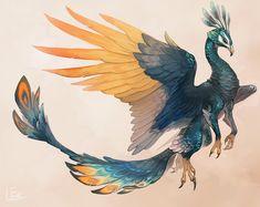 ArtStation - Peacock griffin, Saki Yamamura