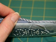 How to finish needlework. Great basic tutorial with lots of pictures