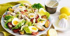 This tasty chicken, avocado and roast potato salad is quick and easy to assemble.