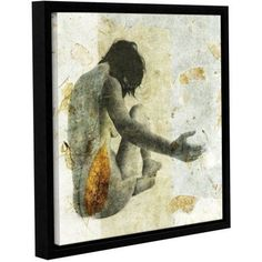 ArtWall Elena Ray Female With Opening Hand Gallery-wrapped Floater-framed Canvas, Size: 24 x 24, Green
