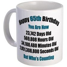 65 'Years' Old Mug for