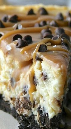 Salted Caramel Chocolate Chip Cheesecake                                                                                                                                                      More