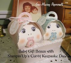 Baby Gift Boxes Using Stampin'Up Curvy Keepsake Box Thinlets Die : JEANETTE's Blog - video can be found here - https://youtu.be/GEa86cY443Q Or click through to the blog post.