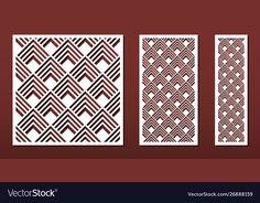 Laser Cut Panels, Web Design, Graphic Design, Wood Carving, Laser Cutting, Lattice Ideas, Paper Art, Vector Free, Stencils