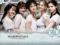 Pride and Prejudice (2005). 'Girls in white dresses with blue satin sashes.'