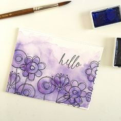 Purple Watercolor Card + a Video! – Freshwater Studio