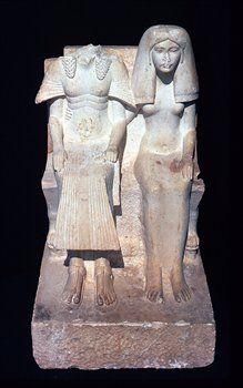 Horemheb and (presumably) Amenia