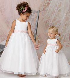 Cheap dresses newborn girls, Buy Quality girl latin dance dress directly from China girl dress stores Suppliers: 2016 White Organza Long Flower Girl Dresses With Beaded Sashes A Line Cute First Communion Dress Simple Flower Girl Dresses, Princess Flower Girl Dresses, Little Girl Dresses, Girls Dresses, Flower Girls, Dresses 2016, Flower Dresses, Long Dresses, Stylish Dresses