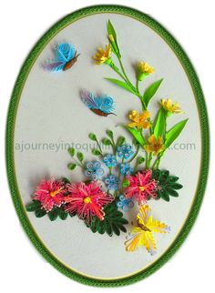 How To Do Paper Quilling | Journey into Quilling & Paper Crafting: Quilled Flowers & butterfly ...