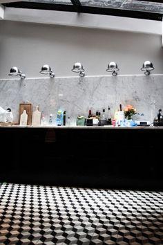 TOUCH cette image: Dans la cuisine ouverte sur le salon carreaux de ciment by The Socialite Family