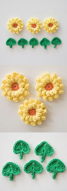 How to make a sunflower | crochet flowers | crochet pattern
