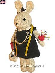 Ravelry:  Gabrielle Chanel mademoiselle Coco the Modiste knit pincushion.