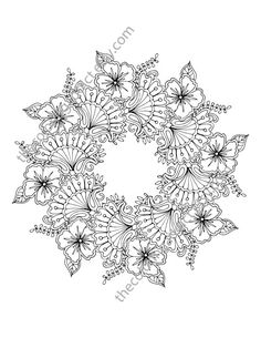 This floral mandala coloring page is the perfect adult coloring page to relieve your stress. The digital flower mandala can be printed again and again for your henna floral coloring fun. Perfect for any drawing medium.  Pay less than .20 cents for this sheet when you buy the adult coloring book BLOOM. View digital or physical book here:  https://www.etsy.com/shop/TheColoringAddict?section_id=18122217&ref=shopsection_leftnav_3  This 8.5 x 11 pdf is available immediately after purchase (no…